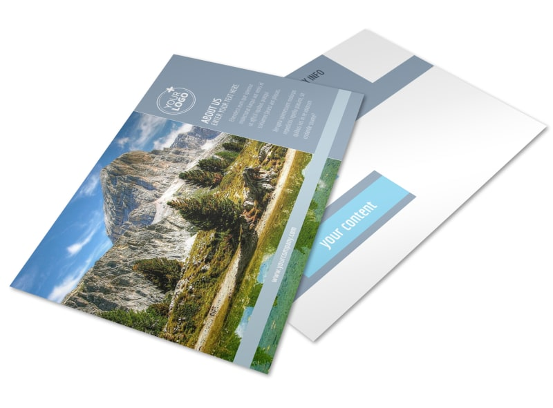 General Photography 2 Postcard Template