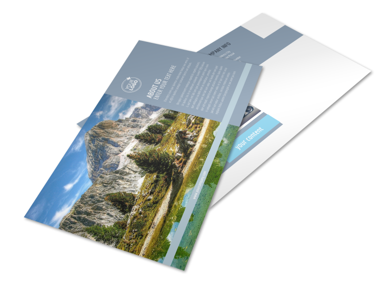 General Photography 2 Postcard Template Preview 1