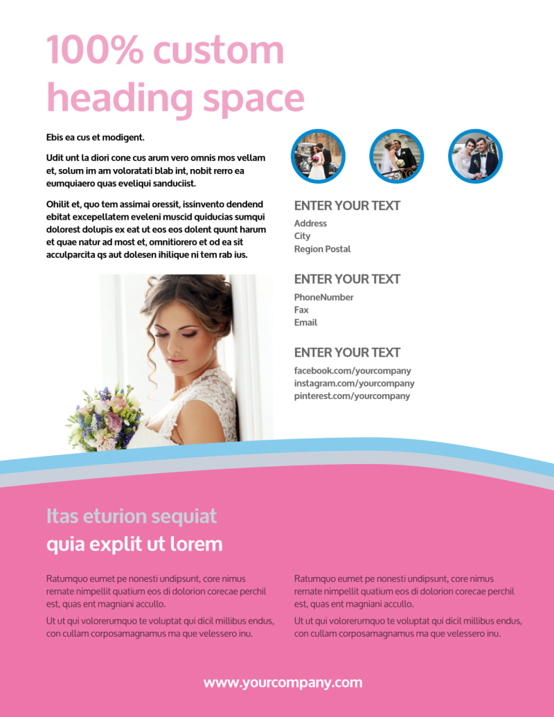 Wedding Photography Flyer Template Preview 3