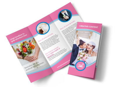 Wedding Photography Tri-Fold Brochure Template preview