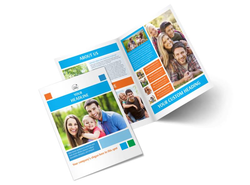 Family Photography Bi-Fold Brochure Template 2