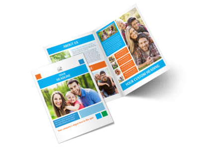 Family Photography Bi-Fold Brochure Template 2