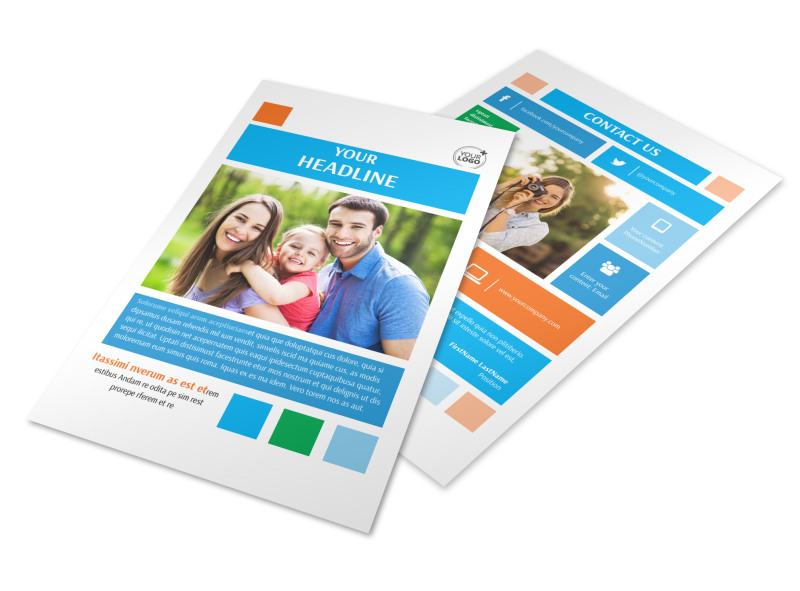 Family Photography Flyer Template 3