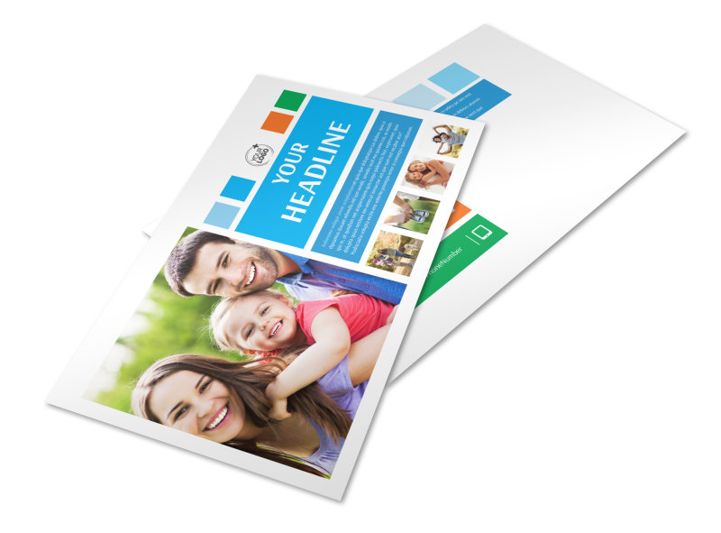 Family Photography Postcard Template