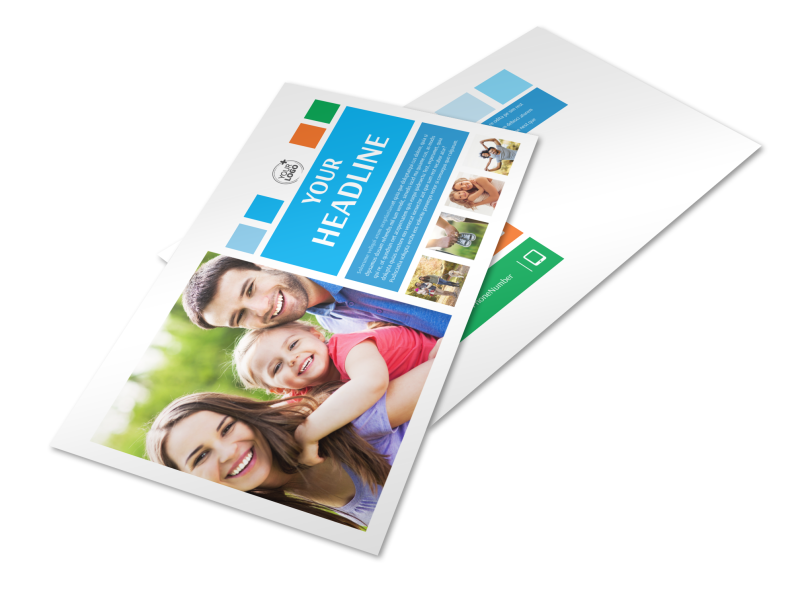 Family Photography Postcard Template Preview 1