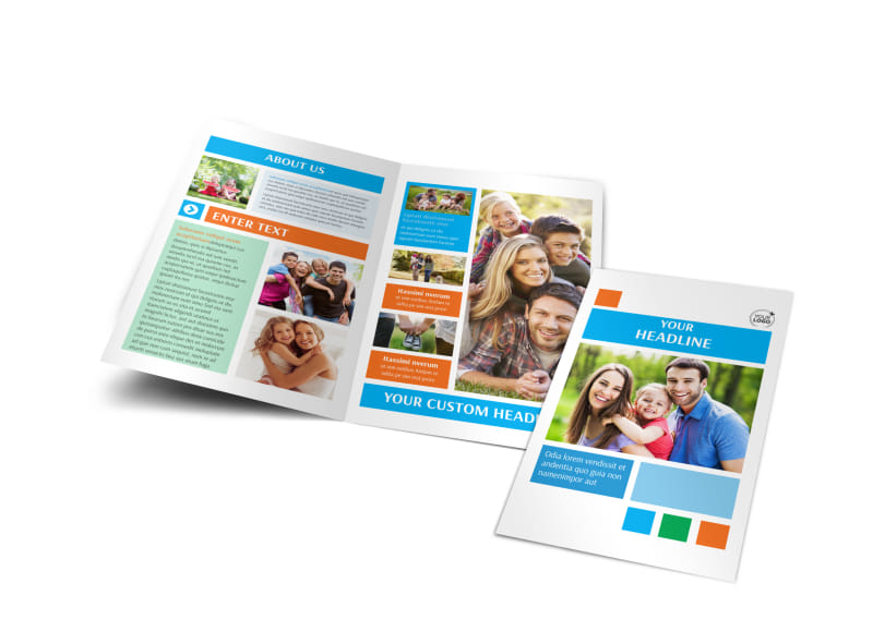 Family Photography Bi-Fold Brochure Template
