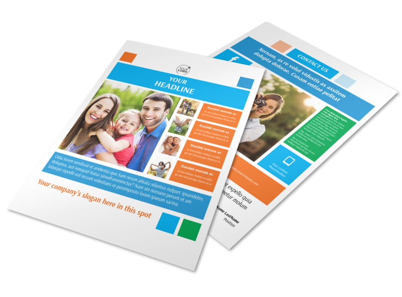 Family Photography Flyer Template Preview 4