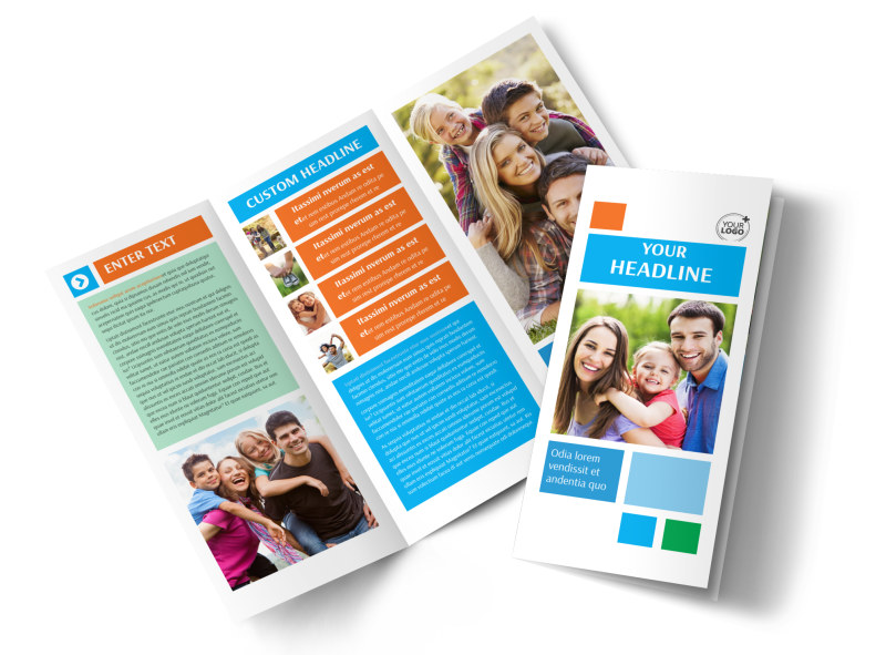Family Photography Tri-Fold Brochure Template