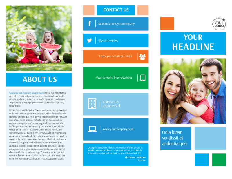 Family Photography Brochure Template Preview 2