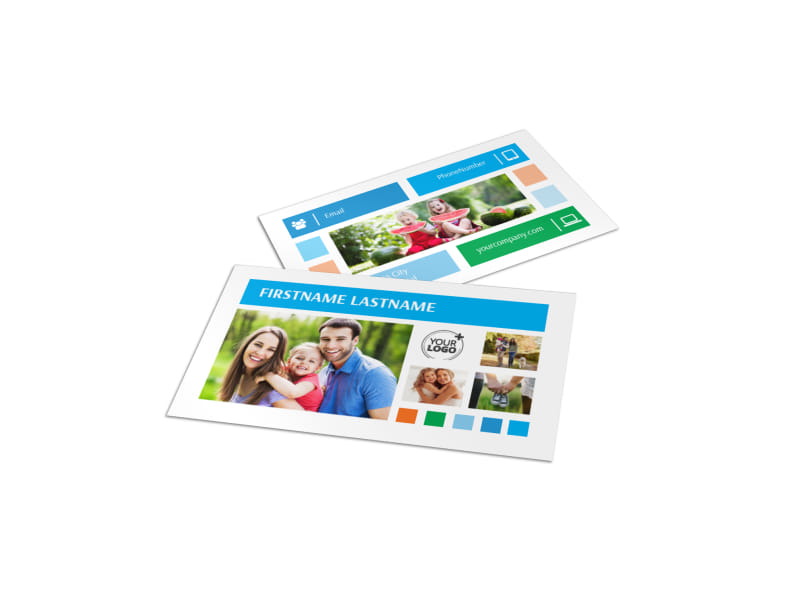 Family photography business card template mycreativeshop family photography business card template reheart Images