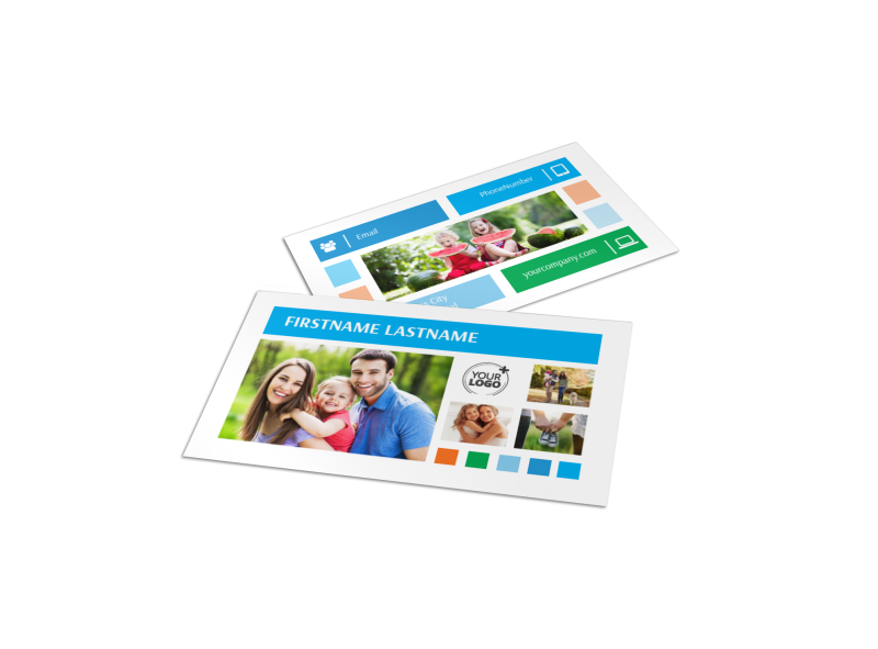 Family Photography Business Card Template Preview 1