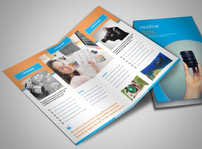 product brochure templates - photography product service rates bi fold brochure template