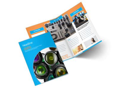 Photography Product & Service Rates Bi-Fold Brochure Template 2 preview