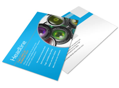 Photography Product & Service Rates Postcard Template 2 preview