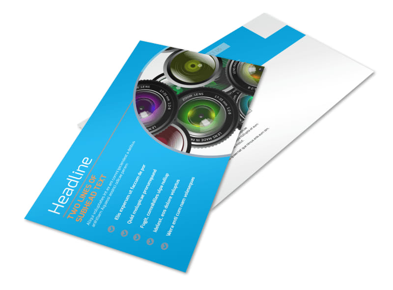 Photography Product & Service Rates Postcard Template Preview 4