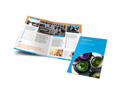Photography Product & Service Rates Bi-Fold Brochure Template preview