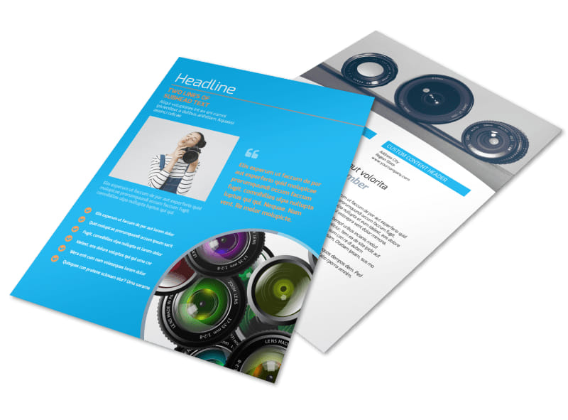 photography product service rates flyer template 3