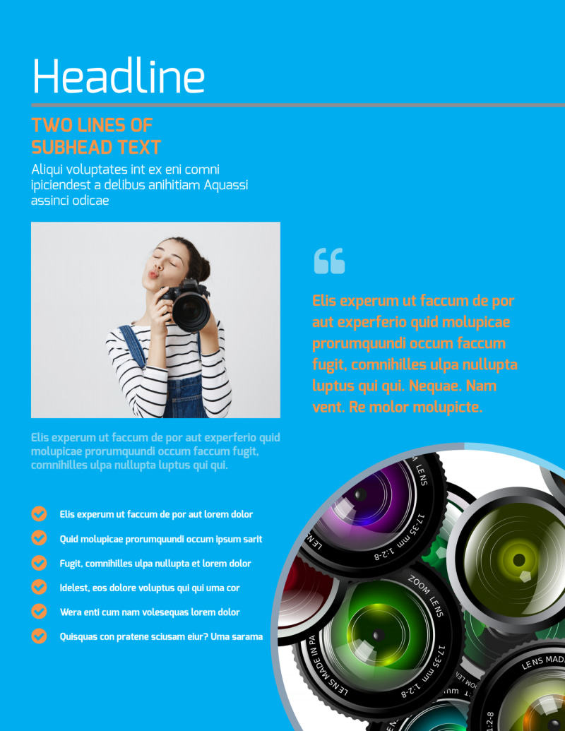 Photography Product & Service Rates Flyer Template Preview 2