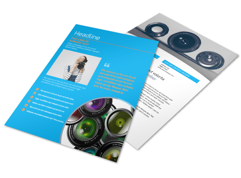 Photography Product & Service Rates Flyer Template Preview 1