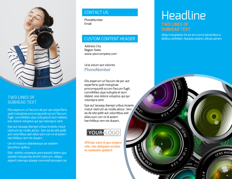 Photography Product & Service Rates Brochure Template Preview 2