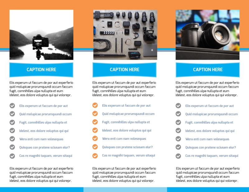 Photography Product & Service Rates Brochure Template Preview 3