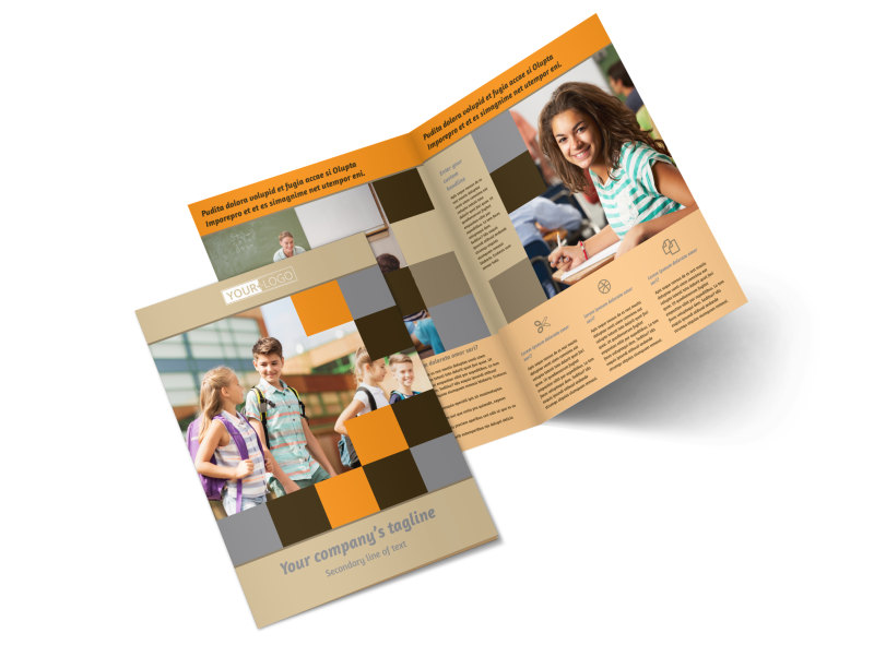 Back To School Bi-Fold Brochure Template 2