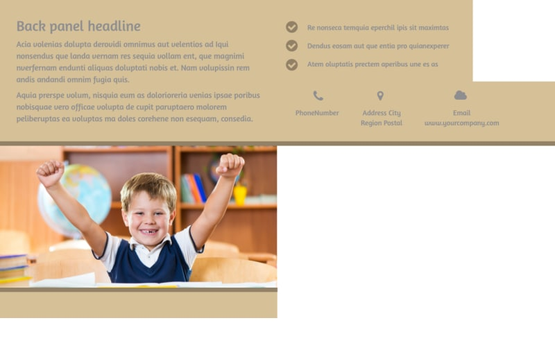 Back To School Postcard Template Preview 3