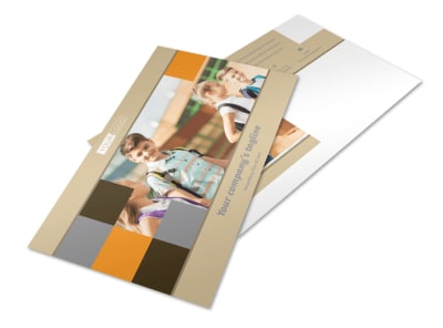 Back To School Postcard Template preview