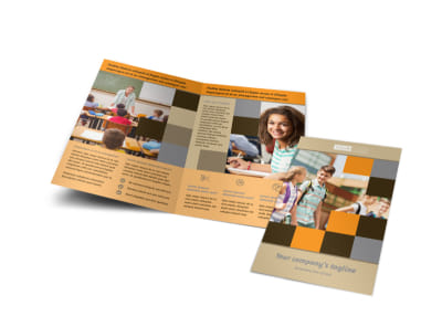 Back To School Bi-Fold Brochure Template