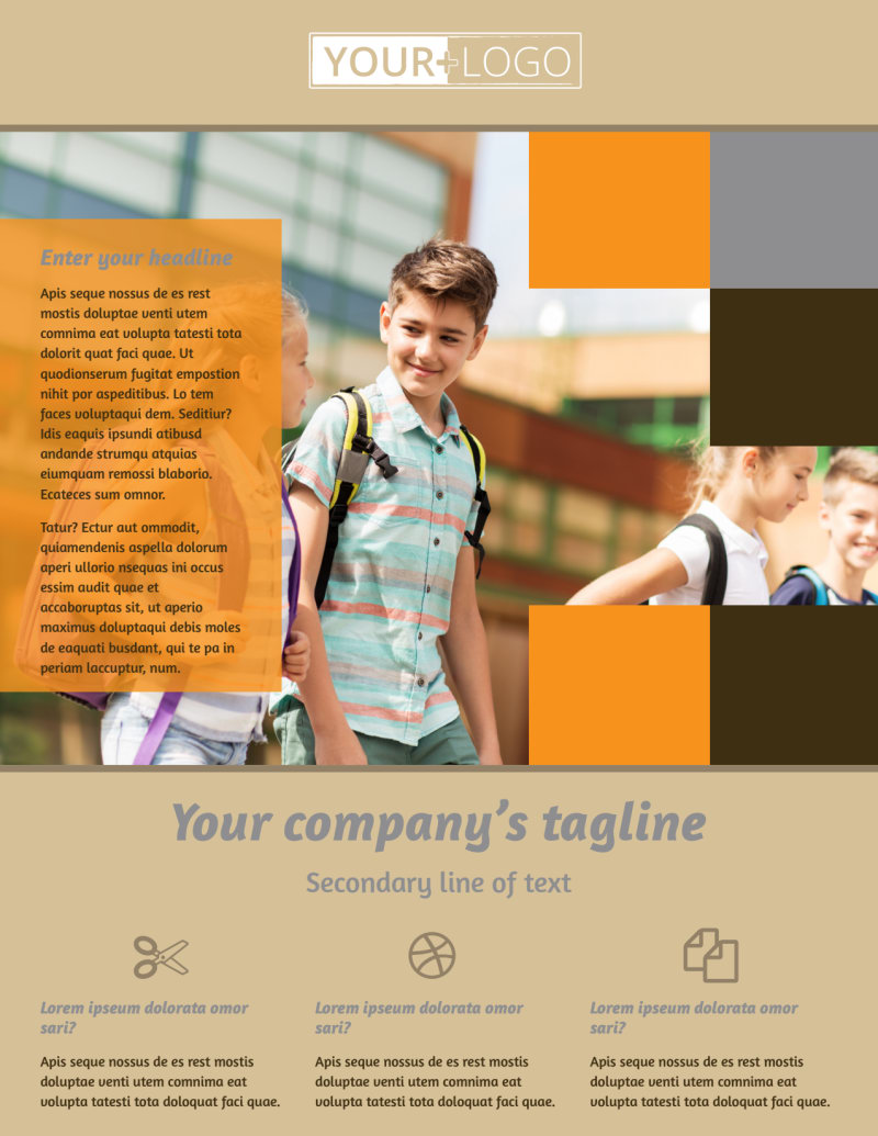 Back To School Flyer Template Preview 2
