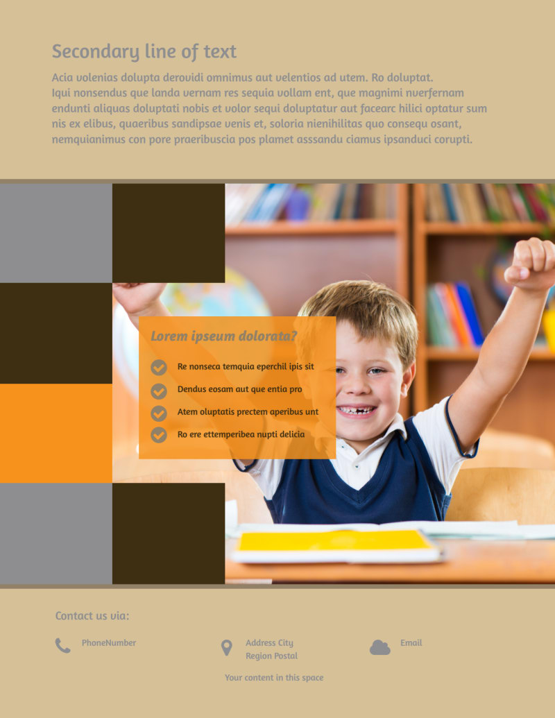Back To School Flyer Template Preview 3