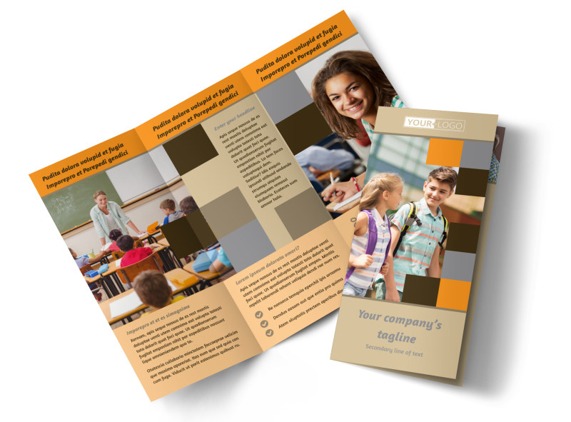 Back To School Brochure Template  Mycreativeshop