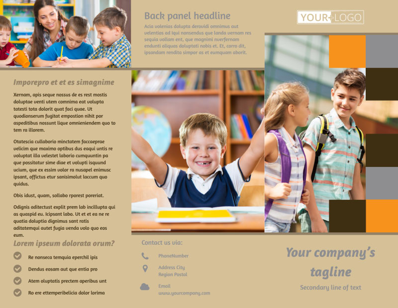 Back To School Brochure Template Preview 2