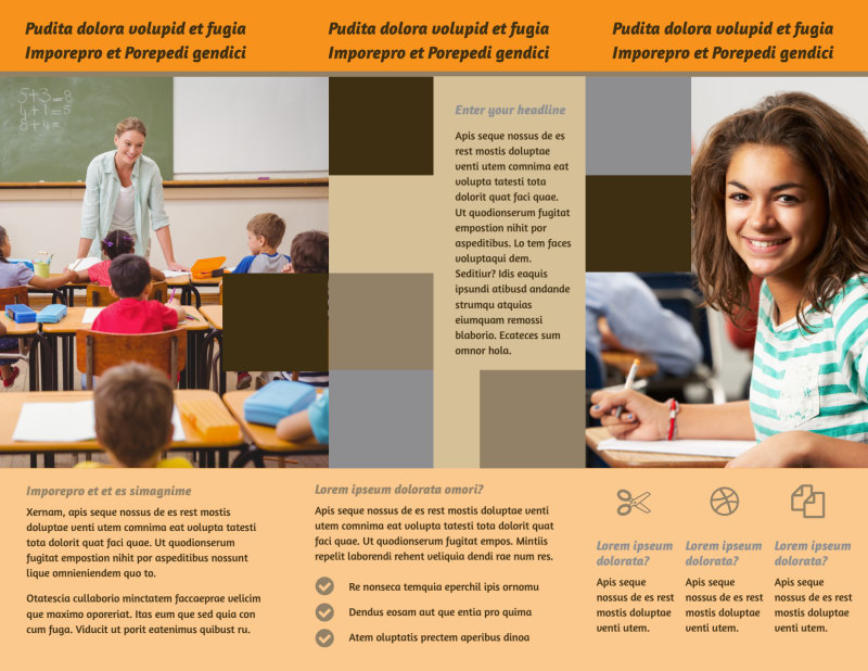 Back To School Brochure Template Preview 3