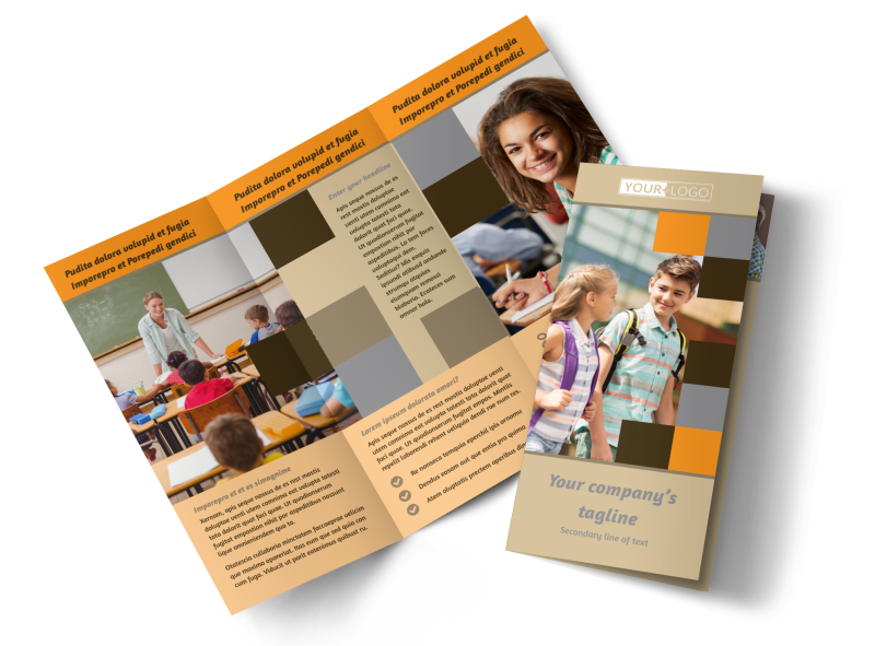 Back To School Brochure Template Preview 1