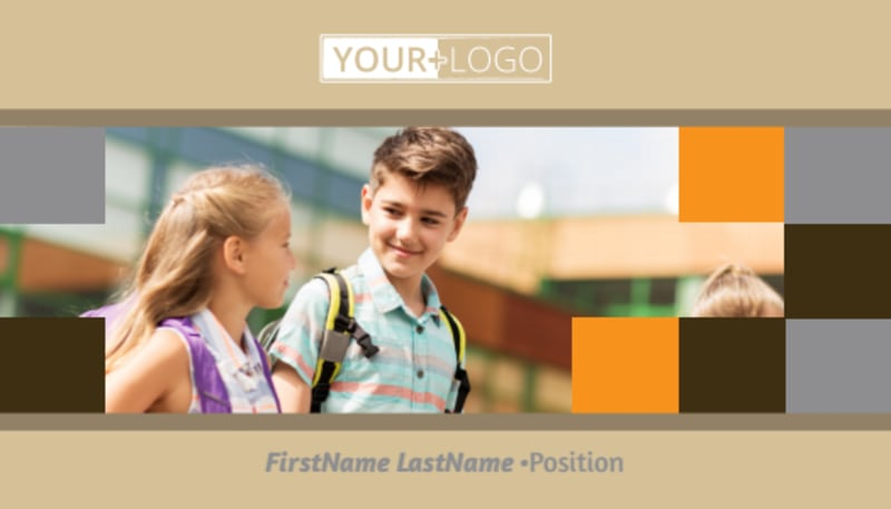 Back To School Business Card Template Preview 2