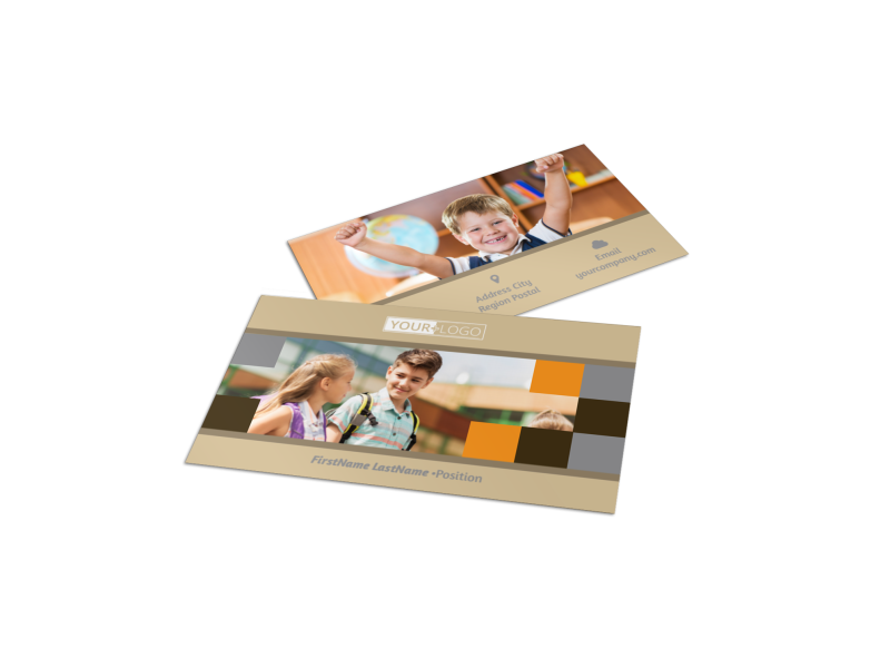 Back To School Business Card Template Preview 1