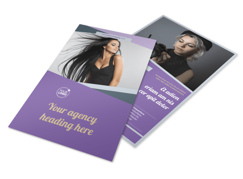 Photography Portfolio Flyer Template Preview 1