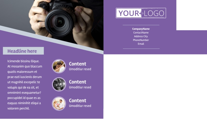 Photography Portfolio Postcard Template Preview 3