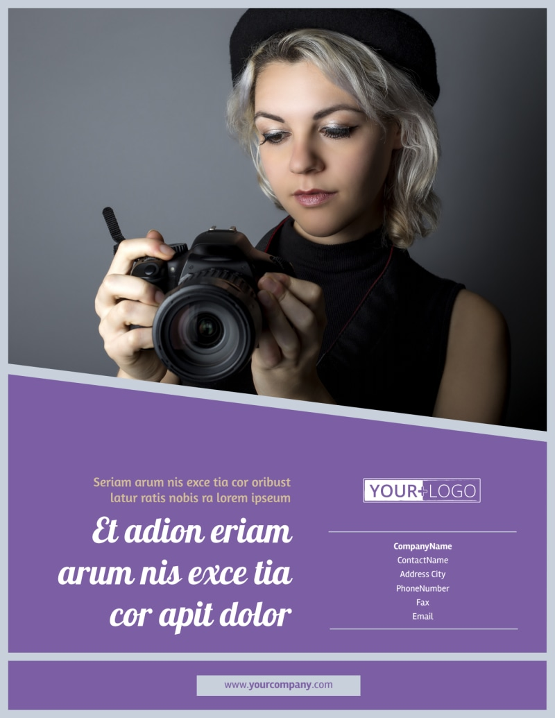 Photography Portfolio Flyer Template Preview 3