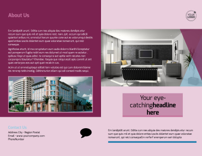 Apartment Living Brochure Template Preview 1