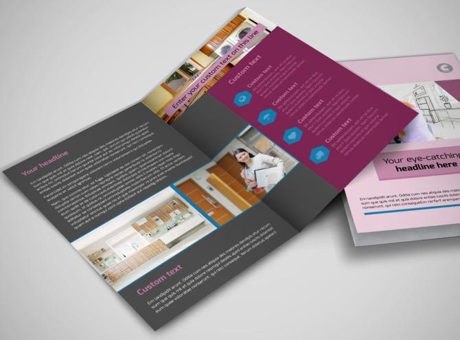 Apartment living bi fold brochure template for Apartment brochure templates