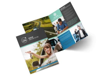 Local Driving School Bi-Fold Brochure Template 2