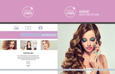 Professional Makeup Artist Brochure Template Preview 1