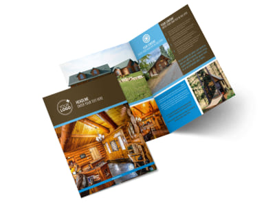 Log & Timber Frame Homes Bi-Fold Brochure Template 2