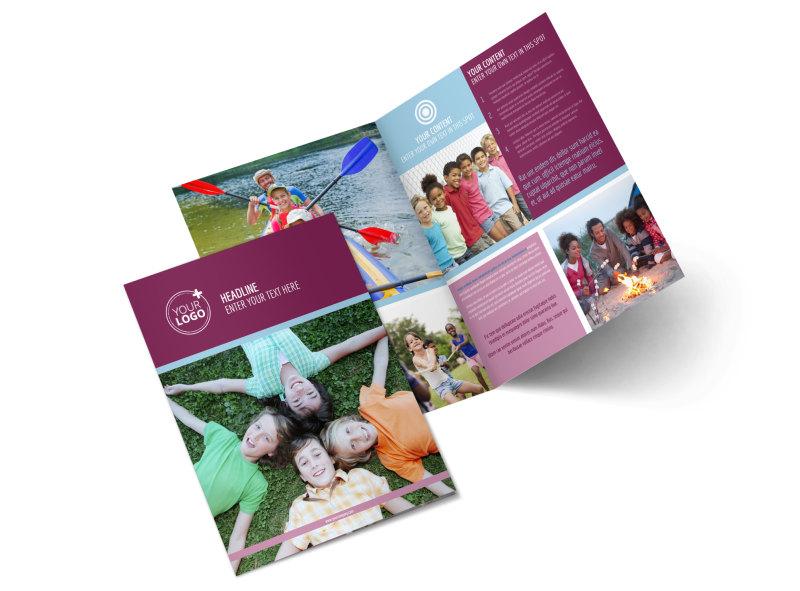 Outdoor Summer Camp Bi-Fold Brochure Template 2