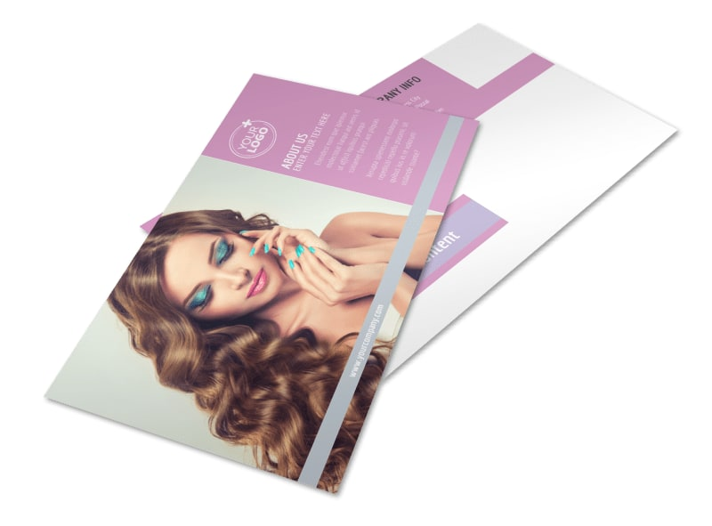 Professional Makeup Artist Postcard Template 2