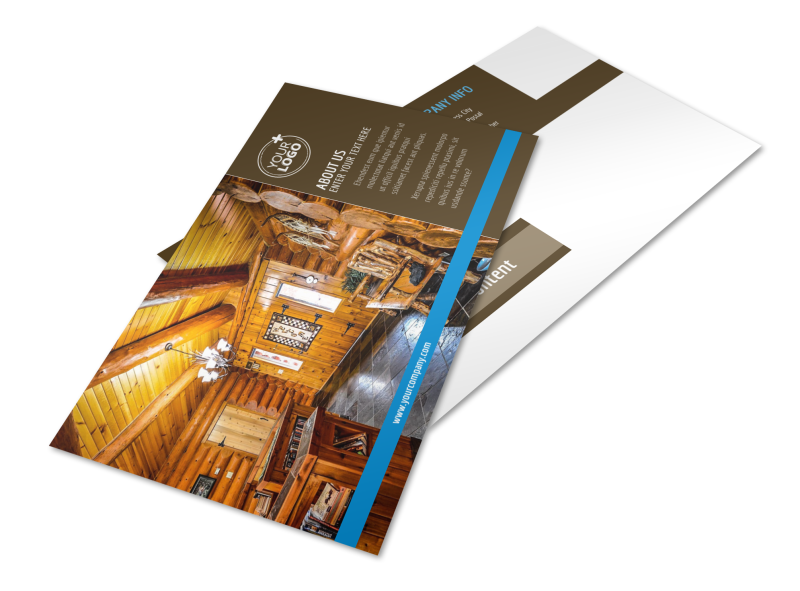 Log & Timber Frame Homes Postcard Template Preview 1