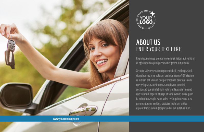 Local Driving School Postcard Template Preview 2