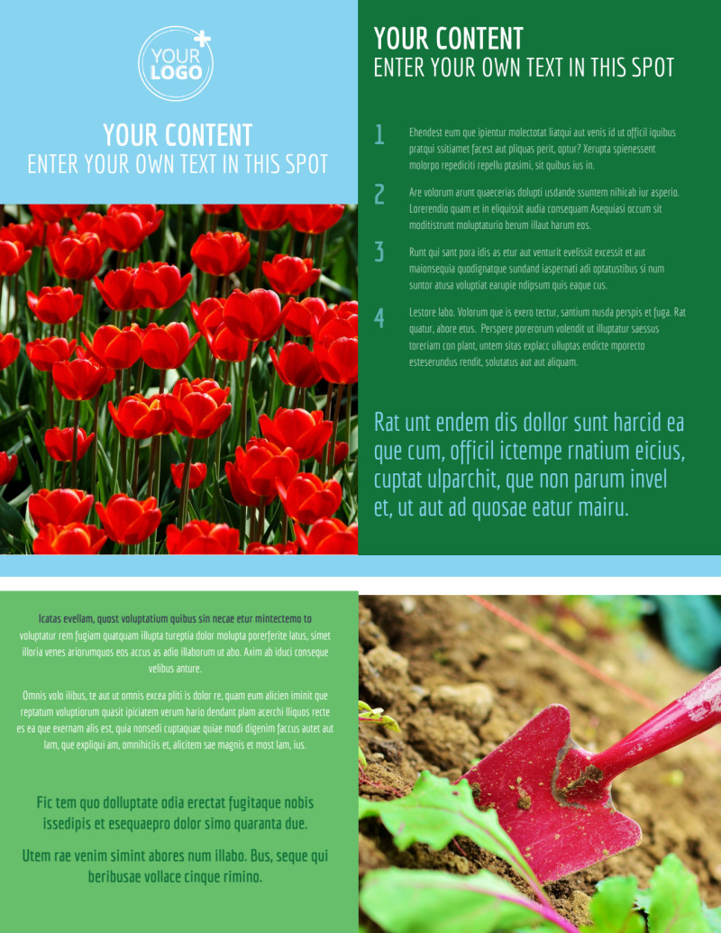 Farm & Garden Supplies Flyer Template Preview 2